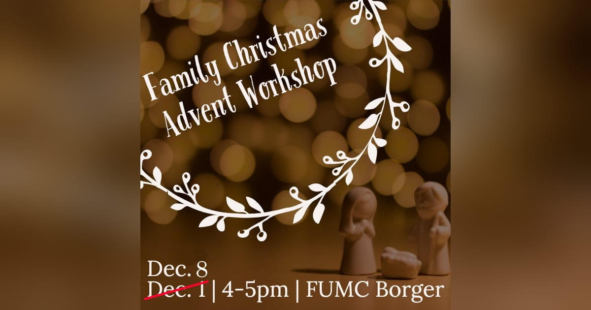 Family Christmas and Advent Workshop