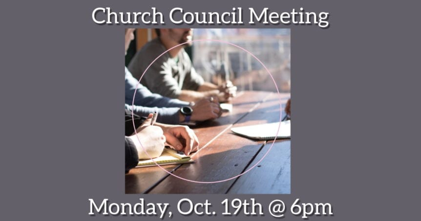 Church Council Meeting October 19, 2020
